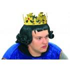 Perücke König ohne Krone