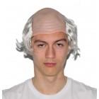Glatze mit Haar