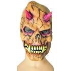 Maske Teufel braun/rot